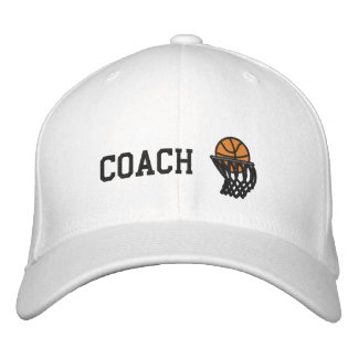 Basketball Hoops Coach Embroidered Hat