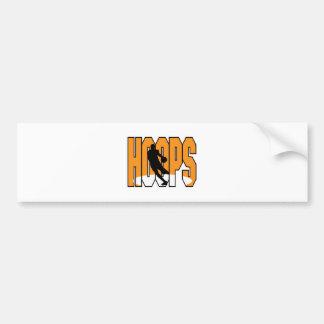 basketball hoops design bumper stickers