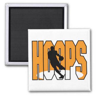 basketball hoops design square magnet