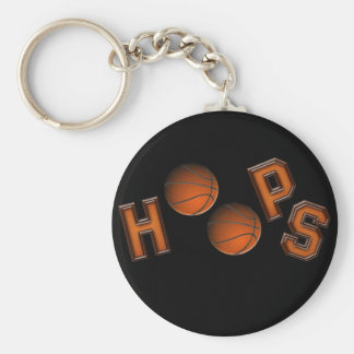 Basketball Hoops Basic Round Button Key Ring