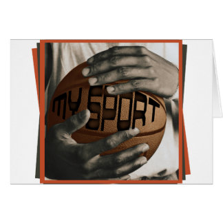 BASKETBALL HUG - MY SPORT - GIFTS GREETING CARD