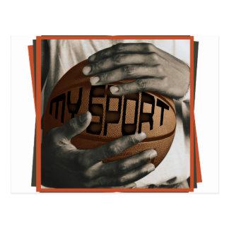 BASKETBALL HUG - MY SPORT - GIFTS POST CARDS