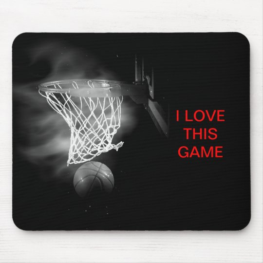 Basketball I Love This Game Mouse Pad