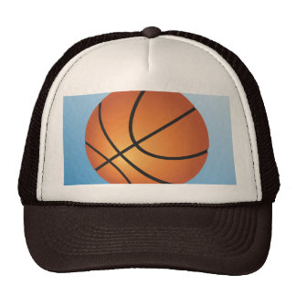 Basketball Icon Blue Background Cap