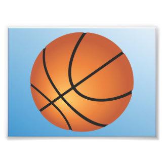 Basketball Icon Blue Background Photo Print