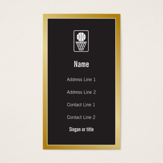 Basketball Icon Business Card