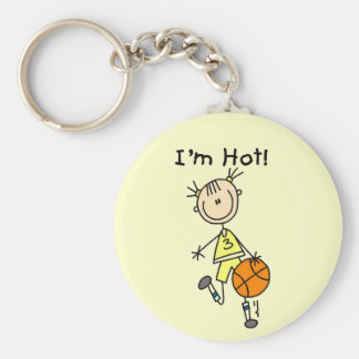 Basketball I'm Hot T-shirts and Gifts Key Chain