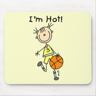 Basketball I'm Hot T-shirts and Gifts Mouse Pad