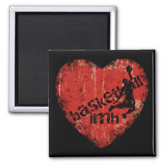 Basketball IMH� s7 Square Magnet