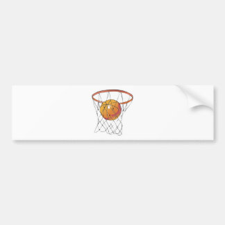 basketball in hoop bumper stickers