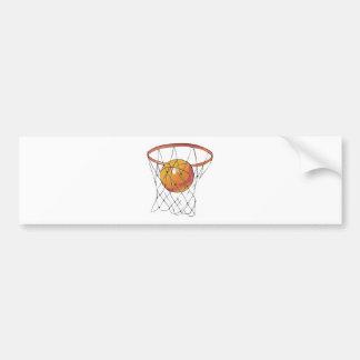 basketball in hoop bumper stickers