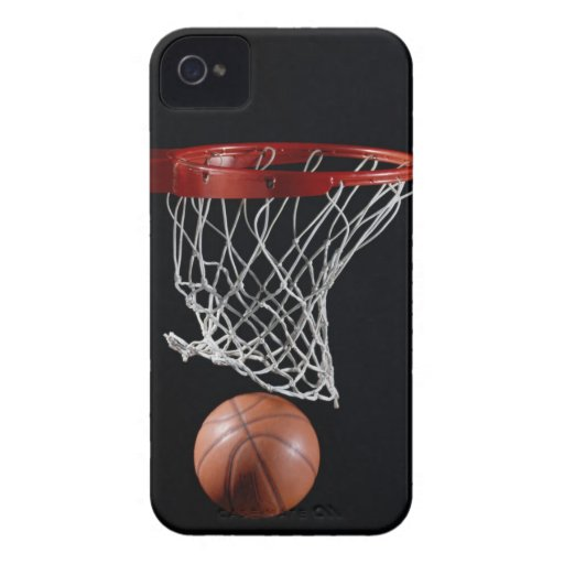 Basketball in Hoop iPhone 4 Case-Mate Cases