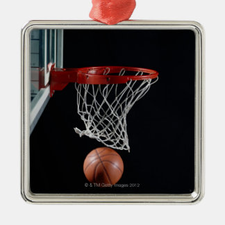 Basketball in Hoop Christmas Ornament