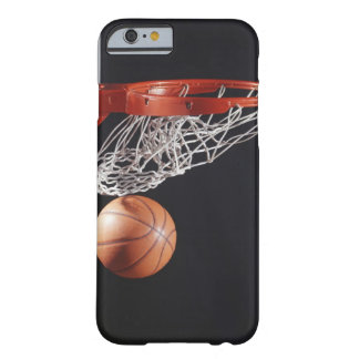 Basketball in hoop, close-up barely there iPhone 6 case