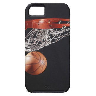 Basketball in hoop, close-up iPhone 5 case