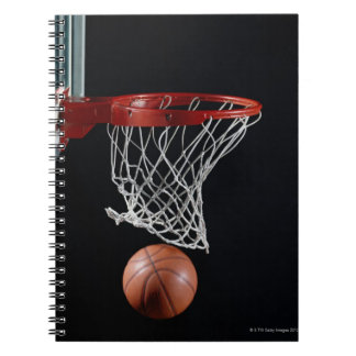 Basketball in Hoop Notebook