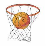 basketball in hoop photo cutout