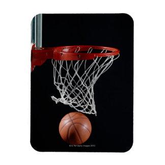 Basketball in Hoop Rectangular Photo Magnet