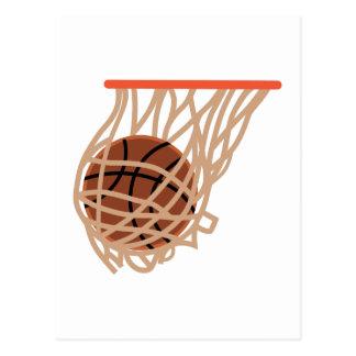 BASKETBALL IN NET POSTCARD