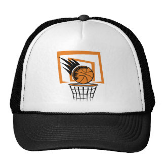 Basketball in the Basket Mesh Hat