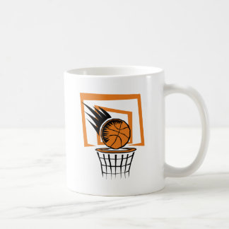 Basketball in the Basket Coffee Mugs