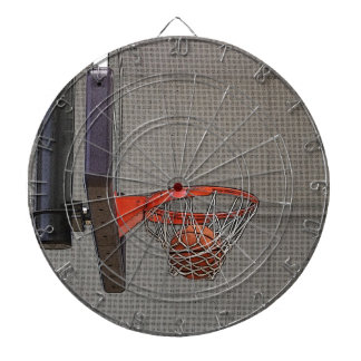 Basketball in the Net Dartboard With Darts