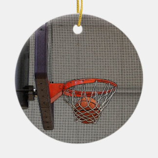 Basketball in the Net Ornaments