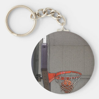 Basketball in the Net Keychain