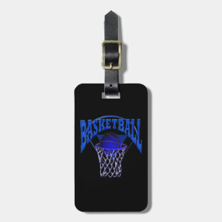 Basketball in the Net Tag For Luggage