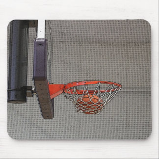 Basketball in the Net Mousepad