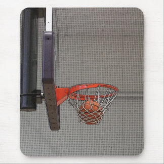 Basketball in the Net Mouse Pad