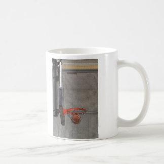 Basketball in the Net Coffee Mugs