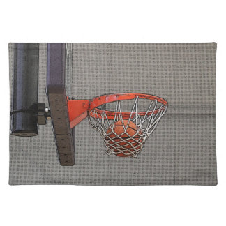 Basketball in the Net Placemats