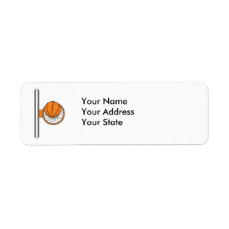 basketball into net top view graphic return address label
