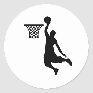 Basketball is great sports round sticker