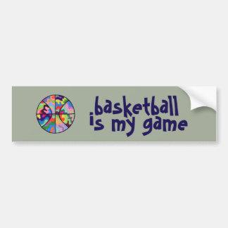 Basketball is My Game Bumper Sticker