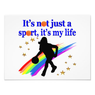 BASKETBALL IS MY LIFE BASKETBALL DESIGN PHOTO ART