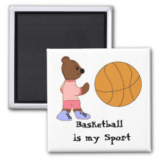 Basketball is my Sport Square Magnet