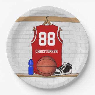 Basketball Jersey momento Paper Plate