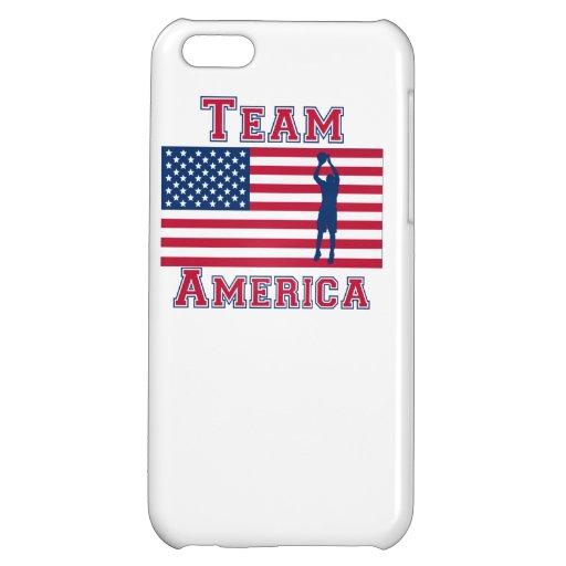 Basketball Jump Shot American Flag Team America Case For iPhone 5C