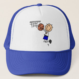 Basketball Jump Shot Blue T-shirts and Gifts Trucker Hat