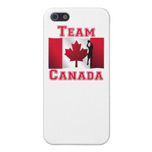 Basketball Jump Shot Canadian Flag Team Canada Case For iPhone 5/5S