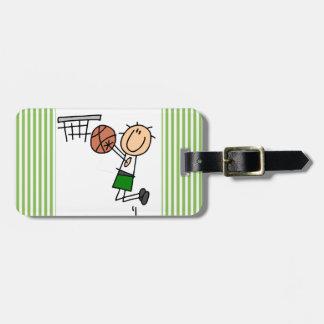 Basketball Jump Shot Green T-shirts and Gifts Luggage Tag