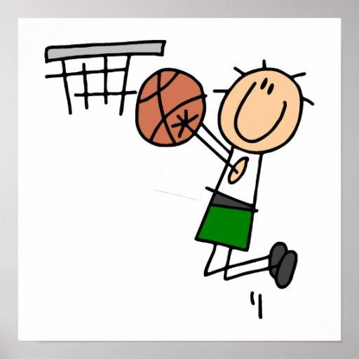Basketball Jump Shot Green T-shirts and Gifts Poster