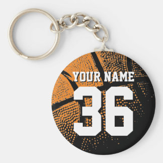Basketball keychain with your own jersey number