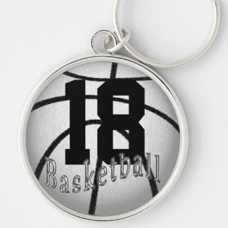 Basketball Keychains with YOUR Jersey NUMBER