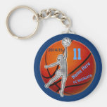Basketball Keychains Your YEAR, NUMBER, NAME, TEAM