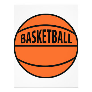 basketball labelled icon full color flyer