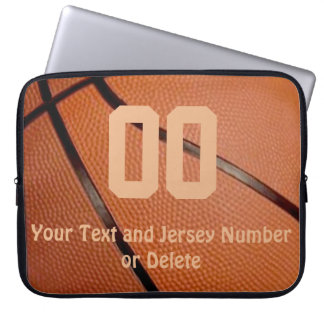 Basketball Laptop Sleeve with Your NUMBER and NAME