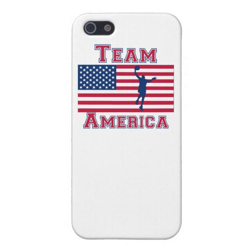 Basketball Layup American Flag Team America Cover For iPhone 5/5S